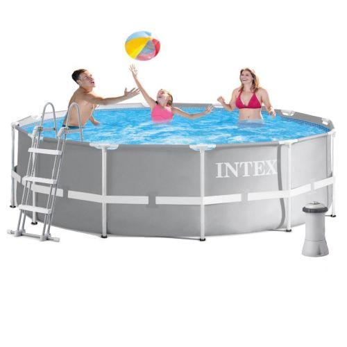 Каркасный бассейн Intex 26716 - 5, 366 x 99 см (3 785 л/ч, лестница, подстилка, тент)