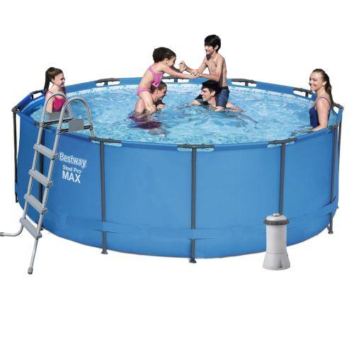 Каркасный бассейн Bestway 5614S - 5, 366 х 122 см (3 785 л/ч, лестница, тент, подстилка)