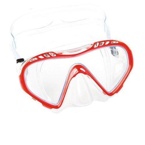Маска для плавания Bestway 22050, размер M (8+), обхват головы ≈ 50-56 см, красная