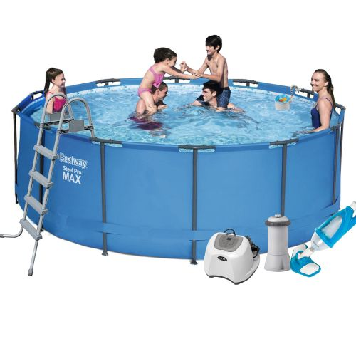 Каркасный бассейн Bestway 5614S - 6, 366 х 122 см (4 г/ч, 3 785 л/ч, тент, подстилка, лестница, набор для ухода)
