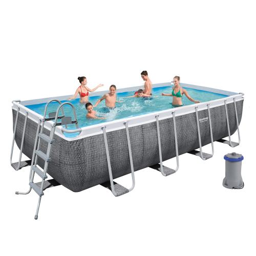 Каркасный бассейн Bestway 56996, 488 x 244 x 122 см (3 028 л/ч, дозатор, лестница, тент)