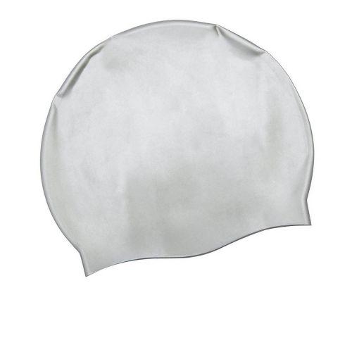 Шапочка для плавания Bestway 26006, универсальная, размер М (8+),обхват головы ≈ 52-65 см, (22 х 19 см), серая