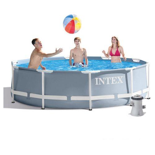 Каркасный бассейн Intex 26702 - 3, 305 x 76 см (1 250 л/ч, тент, подстилка)