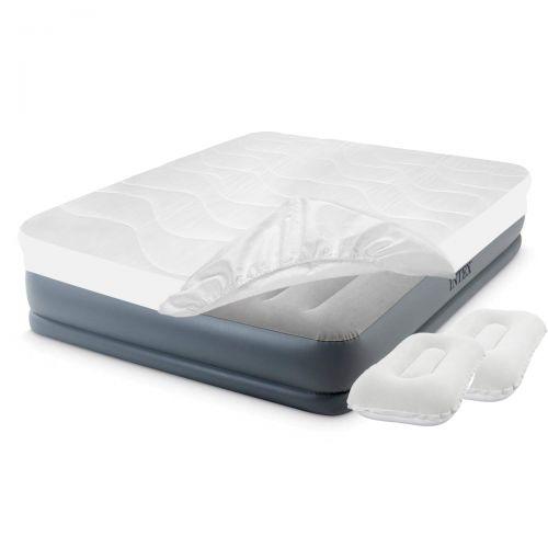 Надувная кровать Intex 64118-3, 152 х 203 х 30 см, наматрасник, подушки. Двухспальная