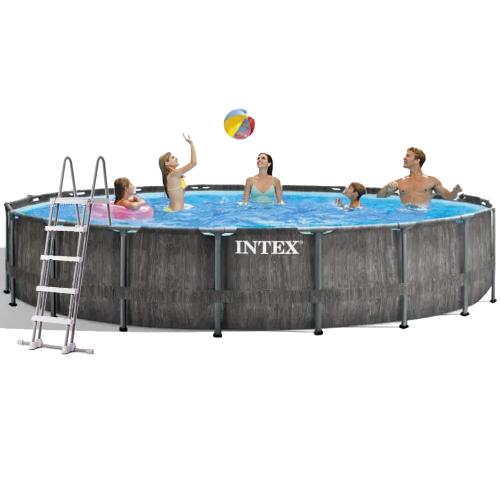 Каркасный бассейн Intex 26744 - 1, 549 x 122 см (лестница, подстилка, тент)