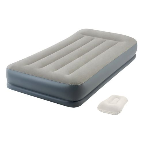 Надувная кровать Intex 64116-2, 99 х 191 х 30 см, встроенный электронасос, подушка. Односпальная