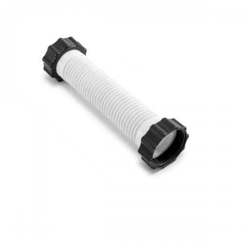 Гофрированный шланг с гайками Intex 11764 к насосу 28644, 26644 (длина 21 см, диаметр 38 мм, резьба 50 мм)