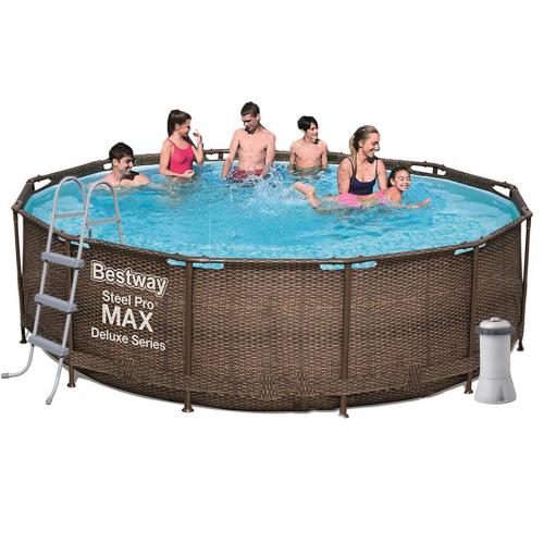 Каркасный бассейн Bestway 56709 - 5, 366 x 100 cм (3 785 л/ч, лестница, тент, подстилка)
