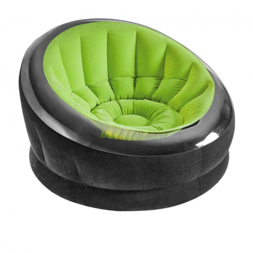 Надувное кресло Intex 66581, 112 х 109 х 69 см, зеленое