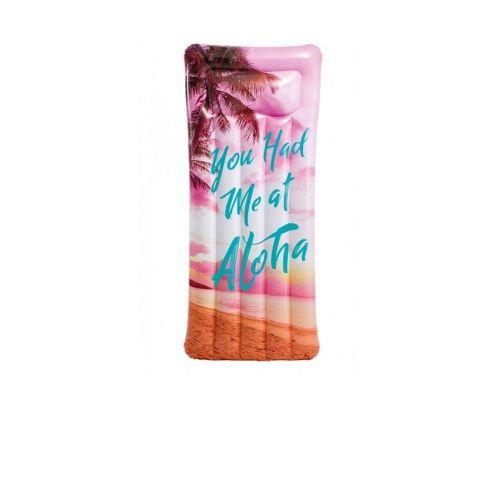 Пляжный надувной матрас с подголовником Intex 58772 «Вдохновение», 178 х 84 см, розовый рассвет