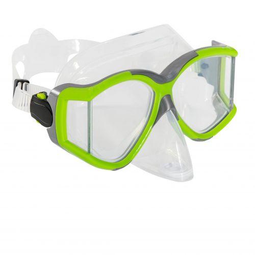 Маска для плавания Bestway 22060, размер L (14+), обхват голов ≈ 54-65 см, зеленая