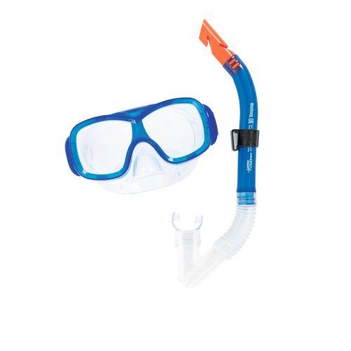 Набор 2 в 1 для плавания Bestway 24032 (маска: размер M, (8+), обхват головы ≈ 50-56 см, трубка), синий