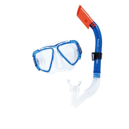 Набор 2 в 1 для плавания Bestway 24029 (маска: размер L, (14+), обхват головы ≈ 54-65 см, трубка), синий