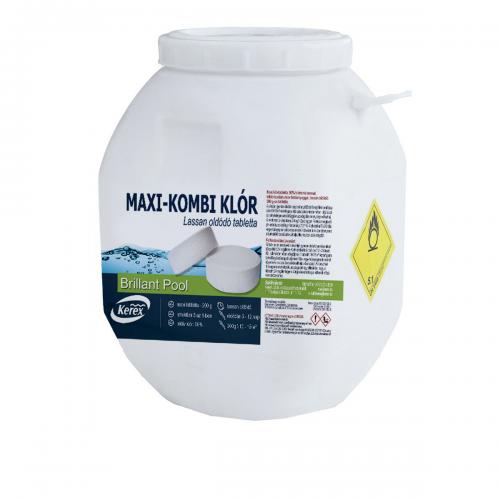 Таблетки для бассейна MAX «Комби хлор 3 в 1» Kerex 80005, 50 кг (Венгрия)