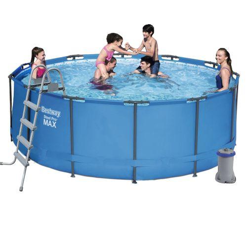 Каркасный бассейн Bestway 5614S, 366 х 122 см (2 006 л/ч, лестница)