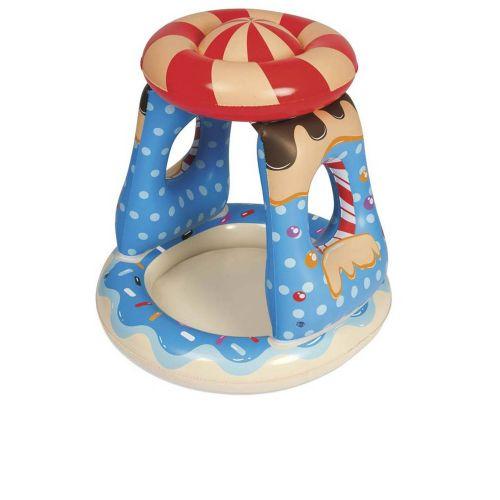 Детский надувной бассейн Bestway 52270 «Конфетка» 91 х 91 х 89 см, с навесом
