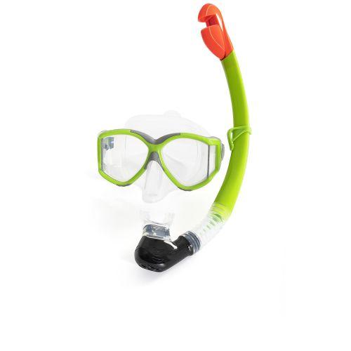 Набор 2 в 1 для плавания Bestway 24050 (маска: размер L, (14+), обхват головы ≈ 59 см, трубка), зеленый