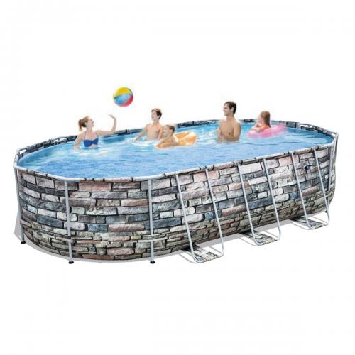 Каркасный бассейн Bestway 56719 - 0 с гидромассажем и подсветкой , 610 х 366 х 122 см (чаша, каркас)