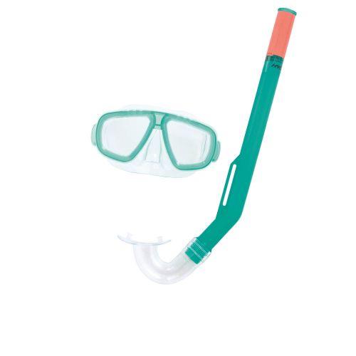 Набор 2 в 1 для ныряния Bestway 24018 (маска: размер S, (3+), обхват головы ≈ 48-50 см, трубка), зеленый