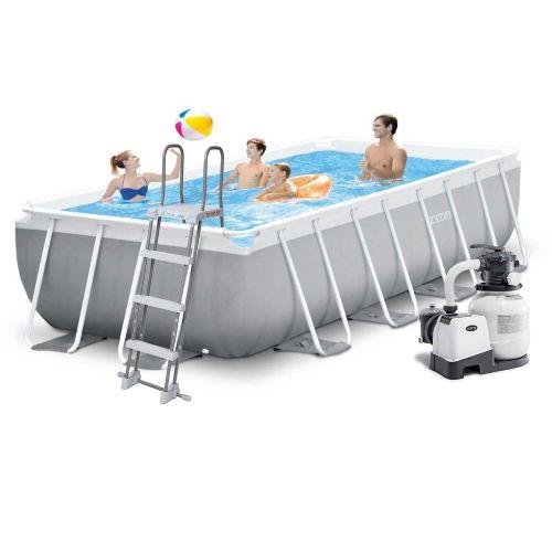 Каркасный бассейн Intex 26790 - 6, 400 х 200 х 122 см (6 000 л/ч, лестница, тент, подстилка)