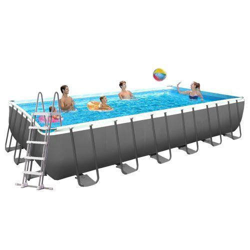 Каркасный бассейн Intex 26368 - 1, 732 х 366 х 132 см (лестница, тент, подстилка)