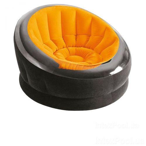 Надувное кресло Intex 68582, 112 х 109 х 69 см, оранжевое
