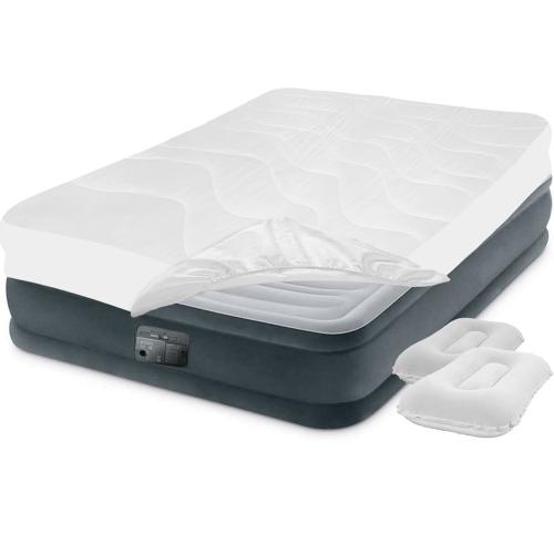 Надувная кровать Intex 67768-3, 137 x 191 x 33 см, электронасос, наматрасник, подушки. Полутороспальная
