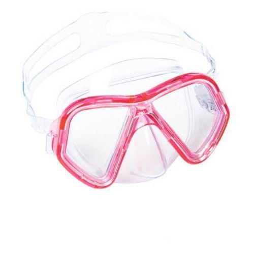 Маска для плавания Bestway 22048, размер S, (3+), обхват головы ≈ 48-52 см, розовая