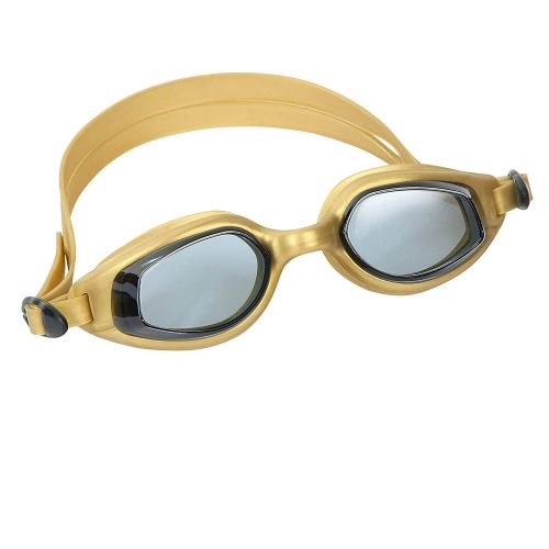 Очки для плавания Bestway 21033, размер L (14+), обхват ≈ 54-65 см, золотистые