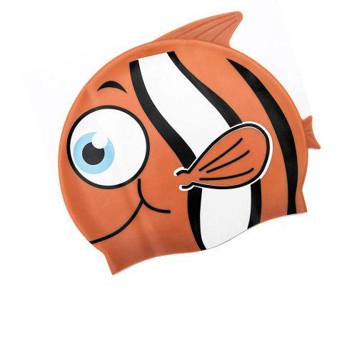 Шапочка для плавания Bestway 26025 «Рыбка», размер S, (3+), обхват головы ≈ 48-52 см, (21 х 17, 5 см), оранжевый