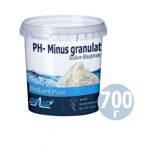 pH- минус для бассейна Grillo 80415. Средство для понижения уровня pH (Германия) 700 г