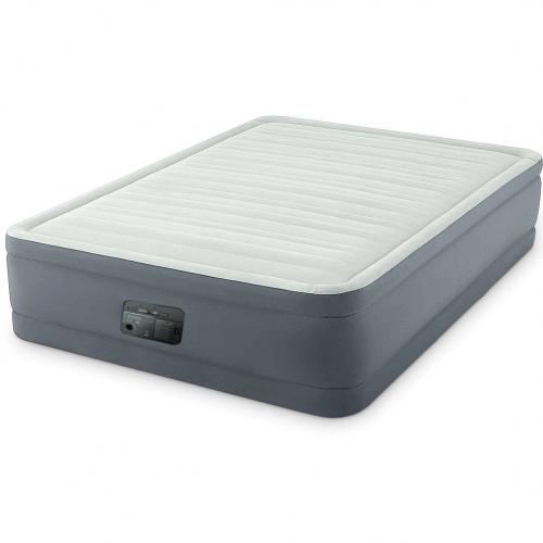 Надувная кровать Intex 64906, 152 х 203 х 46 см, встроенный электронасос. Двухспальная