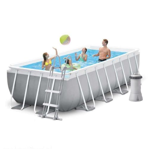 Каркасный бассейн Intex 26788 - 4, 400 x 200 x 100 см (2 006 л/ч, лестница, тент, подстилка)