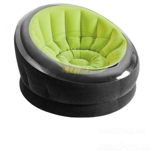 Надувное кресло Intex 68582, 112 х 109 х 69 см, зеленое