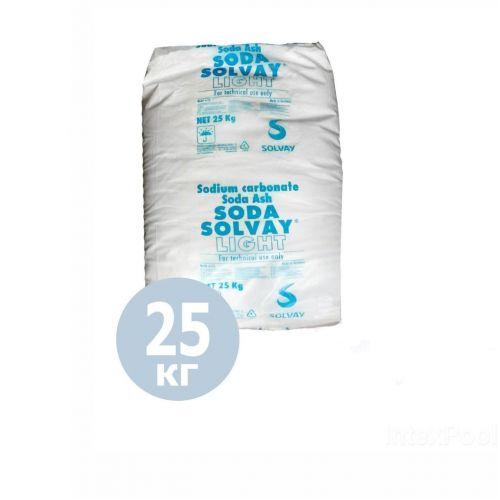 pH+ плюс для бассейна Solvay 80027. Средство для повышения уровня pH (Бельгия) 25 кг