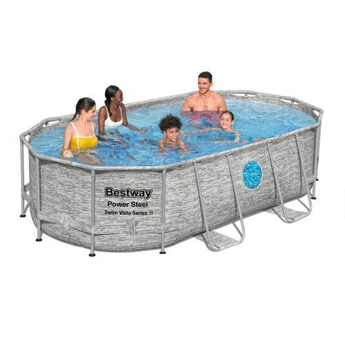 Каркасный бассейн Bestway 56714 - 0 (чаша, каркас), 427 х 250 х 100 см