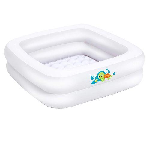 Детский надувной бассейн Bestway 51116, белый, 86 х 86 х 25 см