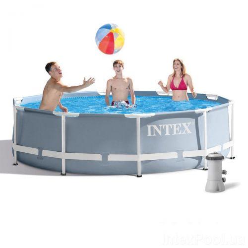 Каркасный бассейн Intex 26700 - 4, 305 x 76 см (2 006 л/ч, тент, подстилка)