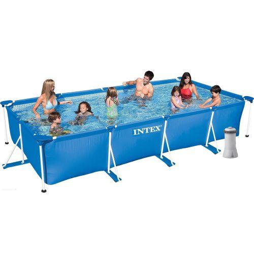 Каркасный бассейн Intex 28273 - 5, 450 х 220 х 84 см (3 785 л/ч, тент, подстилка)