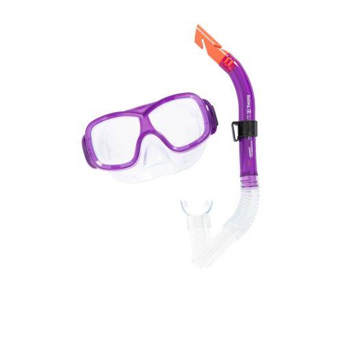 Набор 2 в 1 для плавания Bestway 24032 (маска: размер M, (8+), обхват головы ≈ 50-56 см, трубка), фиолетовый