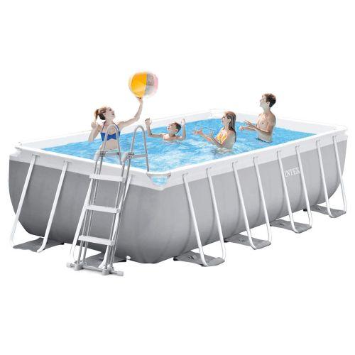 Каркасный бассейн Intex 26792 - 1, 488 x 244 x 107 см (лестница, тент, подстилка)