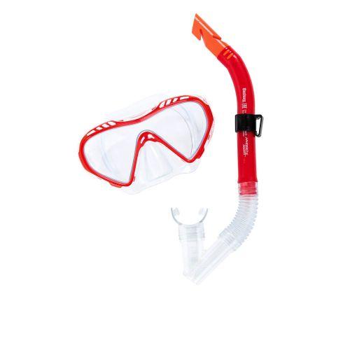 Набор 2 в 1 для плавания Bestway 24026 (маска: размер M, (8+), обхват головы ≈ 50-56 см, трубка), красный