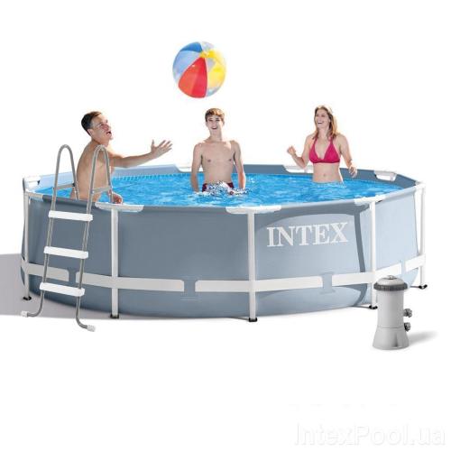 Каркасный бассейн Intex 26700-5, 305 x 76 см (2 006 л/ч, лестница, тент, подстилка)