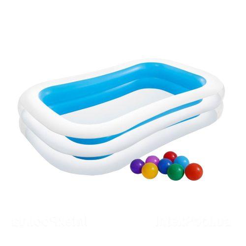 Детский бассейн Intex 56483-1 «Семейный», 262 х 175 х 56 см, с шариками 10 шт