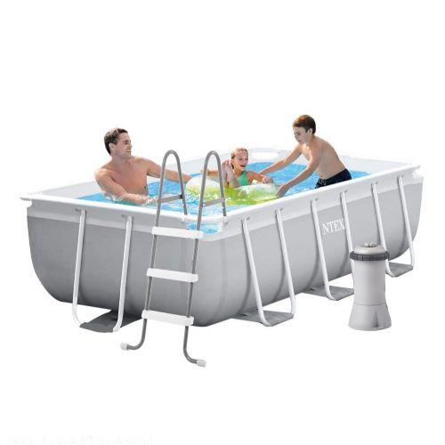 Каркасный бассейн Intex 26784 - 4, 300 х 175 х 80 см, (2 006 л/ч, лестница, тент, подстилка)