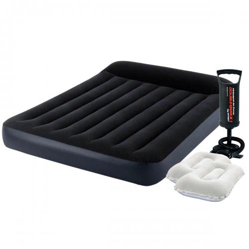 Надувной матрас Intex 64142-2, 137 x 191 x 25 см, с насосом, подушками. Полуторный