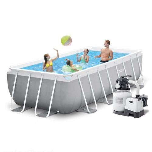 Каркасный бассейн Intex 26788-6, 400 x 200 x 100 см (6 000 л/ч, лестница, тент, подстилка)