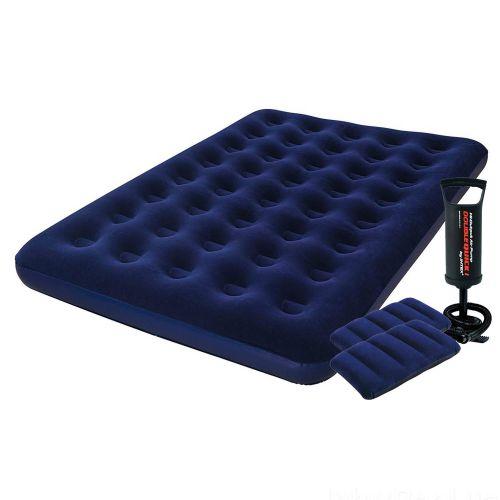 Надувной матрас Pavillo Bestway 67002-1, 137 х 191 х 22 см, с насосом, подушками. Полуторный