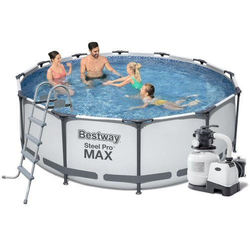 Каркасный бассейн Bestway 56420 - 6, 366 х 122 см (6 000 л/ч, лестница, тент, подстилка)