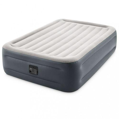 Надувная кровать Intex 64126, 152 х 203 х 46 см, встроенный электрический насос. Двухспальная